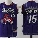 Youth kid Raptors 15 Vince Carter jersey purple