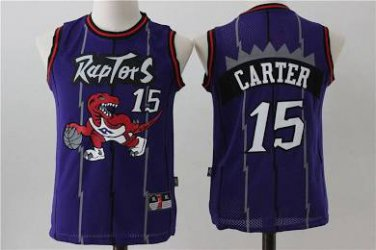 new styles 47603 0c52b Youth kid Raptors 15 Vince Carter jersey purple