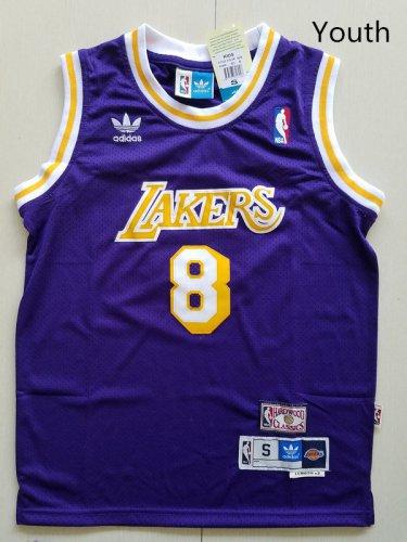 innovative design c3f93 24ad1 Youth KId Kobe Bryant lakers 8 retro jersey purple