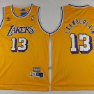 Lakers #13 Wilt Chamberlain yellow hardwood jersey