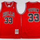 Men's Bulls 33 Scotte Pippen throwback jersey