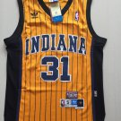 Mens pacers 31 Reggie Miller throwback jersey yellow