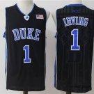 Men's Duke Blue DEVILS 1 Kyrie Irving college jersey black