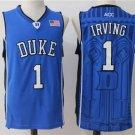 Men's Duke Blue DEVILS 1 Kyrie Irving college jersey blue