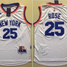 Men's Derrick Rose Knicks 25 Jersey white