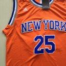 Men's Derrick Rose Knicks 25 Jersey orange