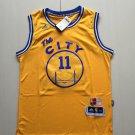Men's klay thompson 11 jersey  stitched jersey yellow