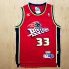 Men's pistons 33 Grant Hill throwback jersey red