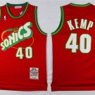 Men's  Shawn Kemp Seattle sonics jersey red