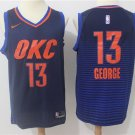 Men's paul George OKC Thunders jersey blue