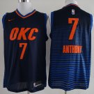 Men's Carmelo Anthony Thunders jersey blue