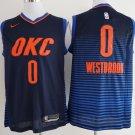 Men's Oklahoma  city Thunders #0 Russell Westbrook OKC Jersey blue statement edition