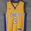 Men's Lakers #2 Lonzo Ball yellow jersey