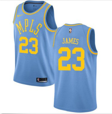 Lebron James #23 Lakers MPLS Original Minneapolis Blue Jersey