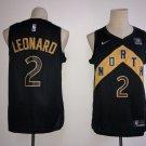 Men's Toronto Raptors #2 Kawhi Leonard city edition jersey black stitched