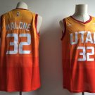 Men's jazz  32 Karl Malone city editon rainbow jersey