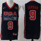 Michael Jordan  1992 Olympics USA Dream National Team #9 basketball jersey black