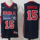 Magic JOHNSON  1992 Olympic USA Dream National Team #15 basketball jersey