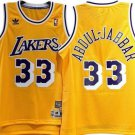 KAREEM ABDUL-JABBAR   LAKERS  33 yellow THROWBACK JERSEY