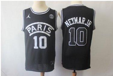 new styles 937db 5c254 Men's Neymar JR PSG Paris Saint-Germain basketball jersey black