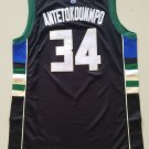Youth boys Bucks #34 Giannis Antetokounmpo jersey black
