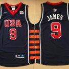 Men's Lebron James 2004 Olympics Game  USA  National Team NO.9  jersey