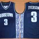 Men's Georgetown Hoyas Allen Iverson #3  College Stitched Jersey NAVY BLUE