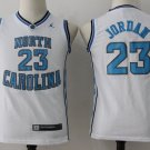 Youth Boys Michael Jordan Jersey North Carolina #23 college Jersey white