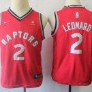 Youth Boys Kawhi Leonard Toronto Raptors #2  Red basketball jersey