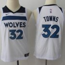 Youth boys Wolves #32 Karl-anthony Towns Jersey white