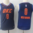Youth boys  Thunders 0# Russell Westbrook OKC Jersey Statement edition