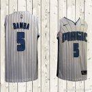 Men's Orlando Magics #5 Mohamed Bamba Association white Jersey  stripe