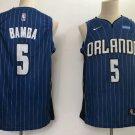Men's Orlando Magics #5 Mohamed Bamba blue icon Jersey