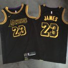 Men's  Lebron James Lakers 23 jersey black authentic embroidered