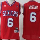 Men's Philadelphia 76ers#6 Julius Erving red throwback Basketball Jersey