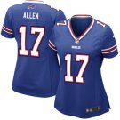 Womens Buffalo Bills #17 Josh Allen  Jersey blue