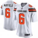 Mens Cleveland Browns #6 Baker Mayfield  game Jersey white