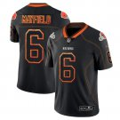 Mens  Browns #6 Baker Mayfield color rush lights out  Jersey black