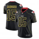 mens  Chiefs 15 Patrick Mahomes lights out Jersey black