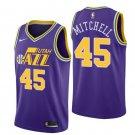 Men's Donovan Mitchell #45 Utah Jazz throwback purple Jersey