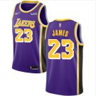 Men's Lebron James Lakers 23 purple jersey stitched