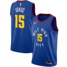 Men's Denver Nuggets #15 Nikola Jokic Jersey Blue Statement edition
