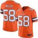 Men's Denver Broncos #58 Von Miller color rush limited Jersey orange