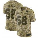 Men's Denver Broncos #58 Von Miller 2019 salute to service Jersey camo