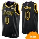 Men's Los Angeles Lakers #0 kyle kuzma jersey city editon black