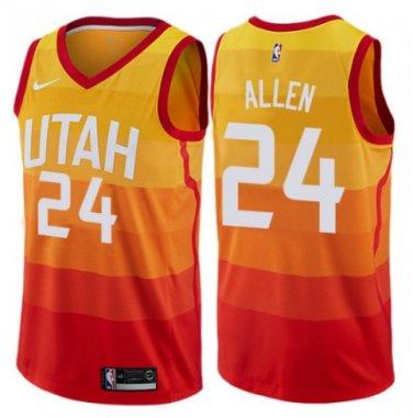 reputable site 3ab2c 33f06 Men's Jazz #24 Grayson Allen swingman jersey city edition orange