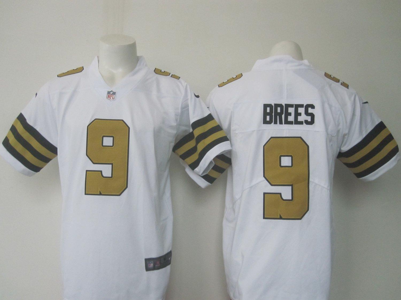 super popular 195fd c5709 Men's Saints #9 Drew Brees color rush limited Jersey white