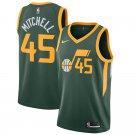 Men's  Jazz #45 Donovan Mitchell jersey green