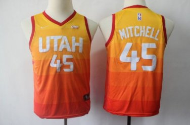 new arrival f8c08 5891a Youth Donovan Mitchell jersey rainbow city edition jersey