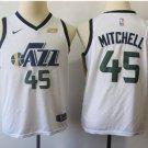 Youth boys  Donovan Mitchell jazz 45 jersey white